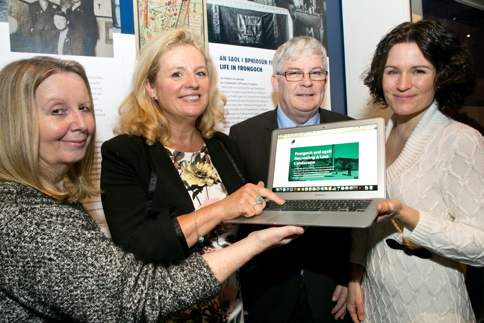 L to R: Linda Tomos, CEO, National Library of Wales, Caroline McGee, Project Creative Lead Inspiring Ireland 1916, Digital Repository of Ireland, Raghnall Ó Floinn, Director, National Museum of Ireland, Natalie Harrower, Director, Digital Repository of Ireland. Image Credit: Paul Sherwood